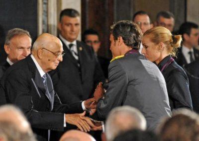 Andrea Giocondi - Annalisa Minetti - Presidente Repubblica Napolitano